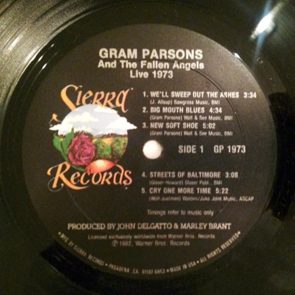 Gram Parsons & The Fallen Angels Live 1973